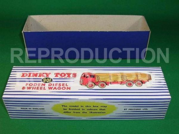 Dinky #901 Foden (2nd cab) High Side - Reproduction Box